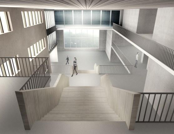 ICIMOD Annexe Building by Horizon Design Studio - 12 - Concourse View from second floor level
