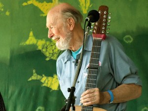 Pete Seeger at the Clearwater Festival, 2007 photo by Anthony Pepitone