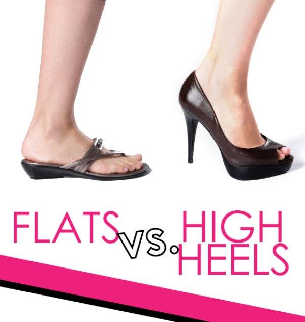 flats versus heels