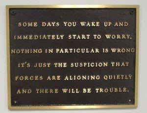 Everyone worries - photo courtesy of Gamma Man