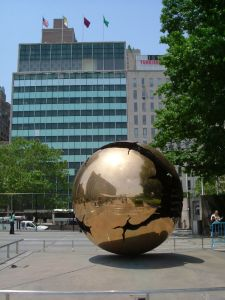 UN Headquarters, NY -- World Happiness Report -- photo courtesy of Rob Young