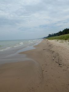 View of our quiet beach