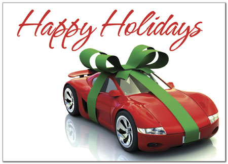 Holiday Car Greeting Card Auto Insurance Holiday Cards