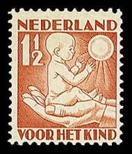 NVPH 232 Kinderzegel 1930 - lente, jong kind