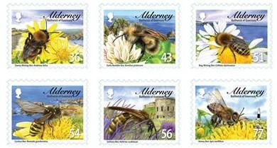 bijen-postzegel-alderney