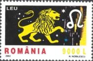 5 postzegel Leeuw Roemenië 2002