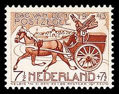 NVPH 422 - Dag van de postzegel, postkoets