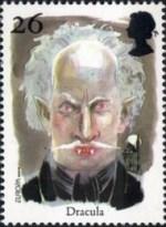2 postzegel Dracula Groot-Brittanië 1997
