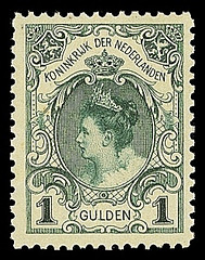 NVPH 49 - Inhuldigingszegel Koningin Wilhelmina