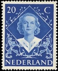 NVPH 507 - Inhuldigingszegel Koningin Juliana