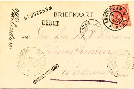 Werkendam briefkaart 1900