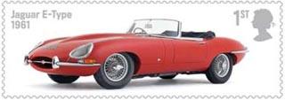 jaguar postzegel