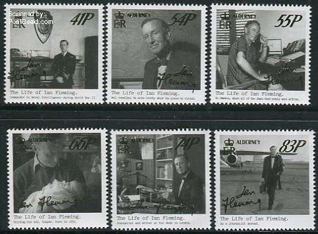 Stampset Ian Fleming Alderney adp31404