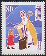 Sint Nicolaas postzegel canada