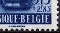 België postzegel met spelfout