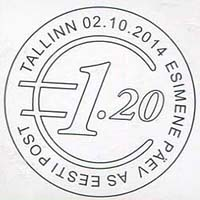 Estland stempel euro 2014