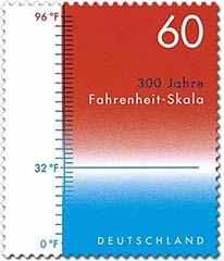Fahrenheit postzegel Duitsland