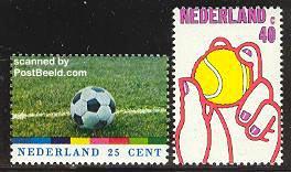 nep1050 postzegels tennisbal is veel te klein