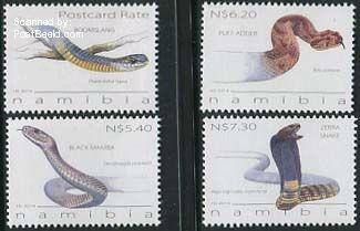 Postzegels giftige slangen Namibië nmp31406