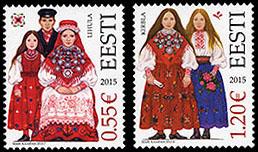 Postzegel Estland 2015 Klederdracht