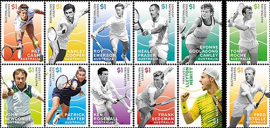 Australian Open postzegels