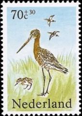 NVPH 1304 - Zomerzegels - Weidevogels - grutto