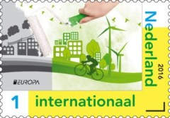 NVPH 3400 - PostEurop 2016 - Denk Groen