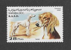 saluki postzegel sahara
