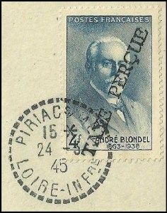 Taxe percue 4fr 1945