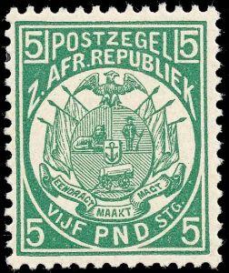 Transvaal Mi 24 herdruk van originele plaat