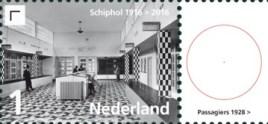 Vel Schiphol - rechts 1e postzegel