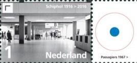 Vel Schiphol - rechts 3e postzegel