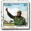 Fidel Castro op postzegel