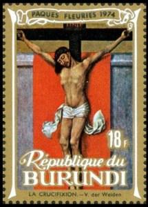 Burundi 1974 crucifix