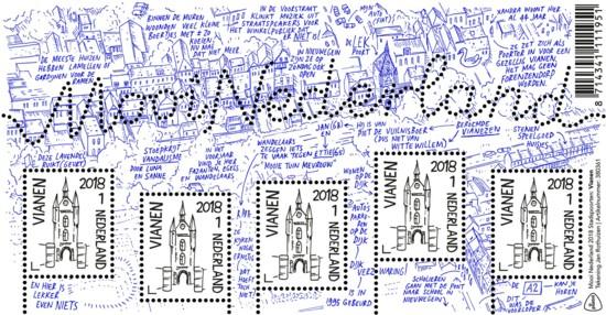 postzegelvel-mooi-nederland-2018-stadspoorten-vianen