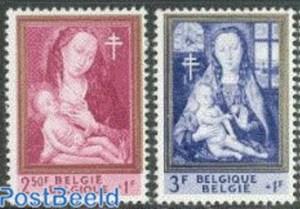 Kunst op postzegels België tuberculosis paintings