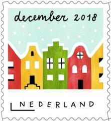 Decemberzegel 2018 - Amsterdamse grachtenhuizen