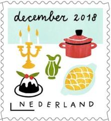 Decemberzegel 2018 - feestelijk gedekte kerstdis