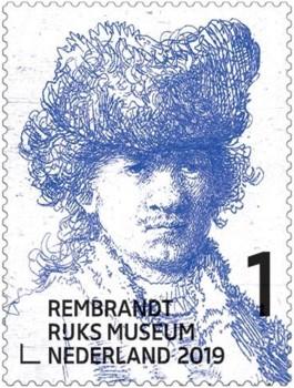 Rembrandt in het Rijksmuseum - postzegel 2