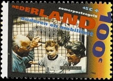 NVPH 1641 - Zomerzegels 1995 - Dagje uit op video opgenomen