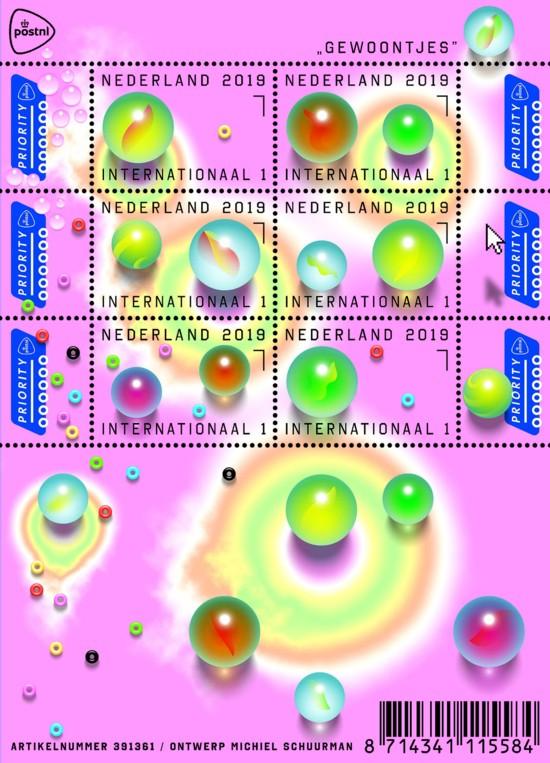Postzegelvel Gewoontjes