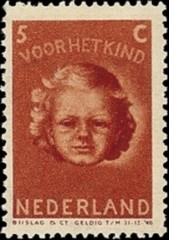 NVPH 446 - Kinderzegel 1945