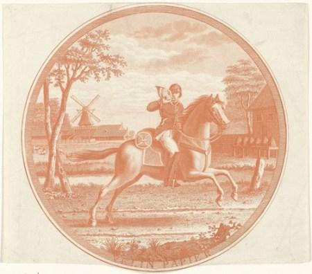 Postiljon te paard, Jan Mulder (1786-1817)