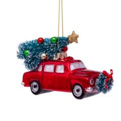 Auto en kerstboom - Vondels