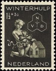 NVPH 423 - Winterhulp Volksdienstzegel