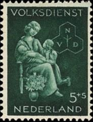 NVPH 425 - Winterhulp-Volksdienstzegel