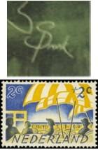 NVPH 513 - Zomerzegel 1949 + Sponk