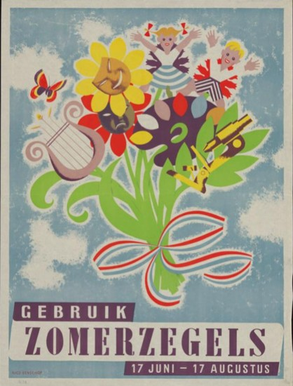 Affiche Zomerzegels 1948