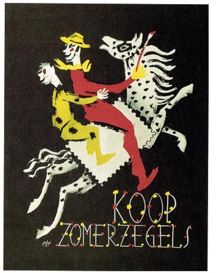 Affiche Zomerzegels 1954 en 1957