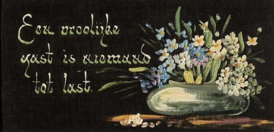 Spreuk op fluweel - Zuiderzeemuseum Enkhuizen